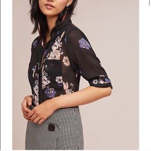 Cloth & Stone Anthropologie Floral Blouse